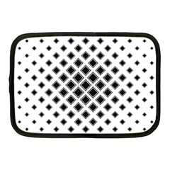 Square Pattern Monochrome Netbook Case (medium)  by Celenk