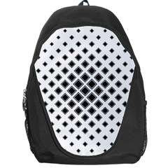 Square Pattern Monochrome Backpack Bag by Celenk