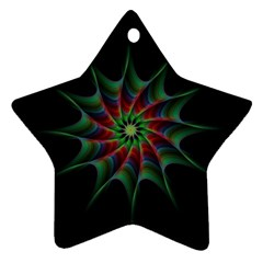 Star Abstract Burst Starburst Star Ornament (two Sides)