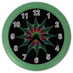 Star Abstract Burst Starburst Color Wall Clocks by Celenk