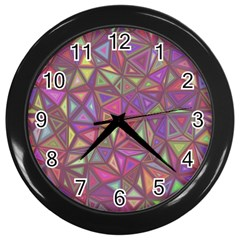 Triangle Background Abstract Wall Clocks (black) by Celenk