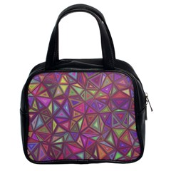 Triangle Background Abstract Classic Handbags (2 Sides) by Celenk