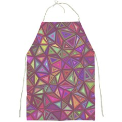 Triangle Background Abstract Full Print Aprons by Celenk