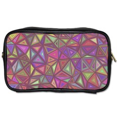 Triangle Background Abstract Toiletries Bags by Celenk
