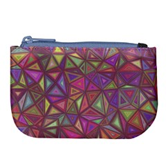 Triangle Background Abstract Large Coin Purse by Celenk