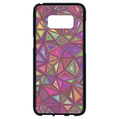 Triangle Background Abstract Samsung Galaxy S8 Black Seamless Case by Celenk