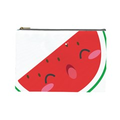 Watermelon Red Network Fruit Juicy Cosmetic Bag (large)  by Celenk