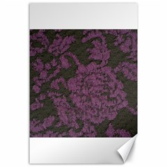 Purple Black Red Fabric Textile Canvas 24  X 36  by Celenk