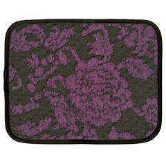 Purple Black Red Fabric Textile Netbook Case (large) by Celenk