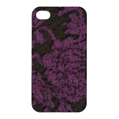 Purple Black Red Fabric Textile Apple Iphone 4/4s Premium Hardshell Case by Celenk