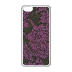 Purple Black Red Fabric Textile Apple Iphone 5c Seamless Case (white) by Celenk
