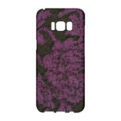 Purple Black Red Fabric Textile Samsung Galaxy S8 Hardshell Case  by Celenk