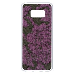 Purple Black Red Fabric Textile Samsung Galaxy S8 Plus White Seamless Case by Celenk