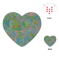 Triangle Background Abstract Playing Cards (heart)  by Celenk