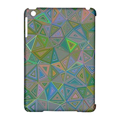 Triangle Background Abstract Apple Ipad Mini Hardshell Case (compatible With Smart Cover) by Celenk