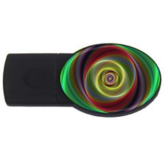 Spiral Vortex Fractal Render Swirl Usb Flash Drive Oval (4 Gb) by Celenk