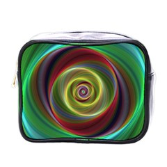 Spiral Vortex Fractal Render Swirl Mini Toiletries Bags by Celenk