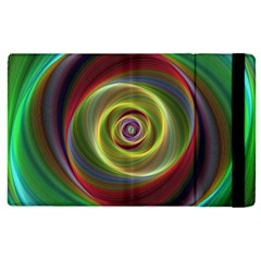 Spiral Vortex Fractal Render Swirl Apple Ipad 2 Flip Case