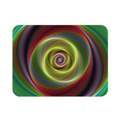 Spiral Vortex Fractal Render Swirl Double Sided Flano Blanket (mini)  by Celenk