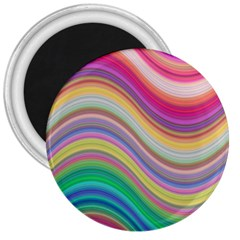 Wave Background Happy Design 3  Magnets