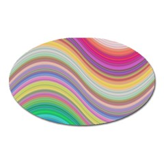 Wave Background Happy Design Oval Magnet