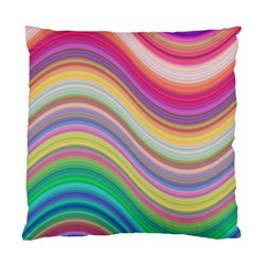 Wave Background Happy Design Standard Cushion Case (one Side)