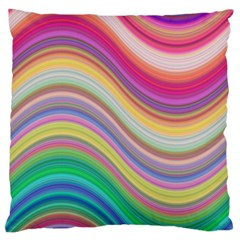 Wave Background Happy Design Standard Flano Cushion Case (one Side) by Celenk