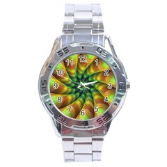 Vision Wallpaper Decoration Stainless Steel Analogue Watch by Celenk