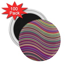 Wave Abstract Happy Background 2 25  Magnets (100 Pack)