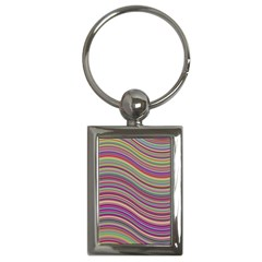 Wave Abstract Happy Background Key Chains (rectangle)  by Celenk