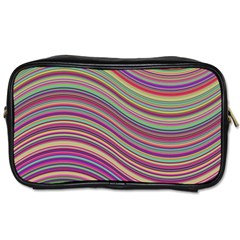 Wave Abstract Happy Background Toiletries Bags by Celenk