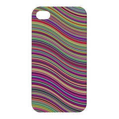 Wave Abstract Happy Background Apple Iphone 4/4s Hardshell Case by Celenk