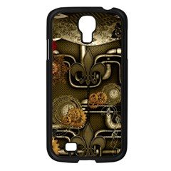 Wonderful Noble Steampunk Design, Clocks And Gears And Butterflies Samsung Galaxy S4 I9500/ I9505 Case (black) by FantasyWorld7