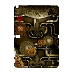 Wonderful Noble Steampunk Design, Clocks And Gears And Butterflies Galaxy Note 1 by FantasyWorld7