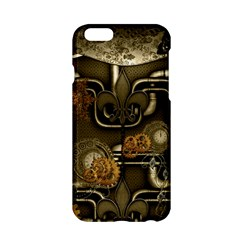 Wonderful Noble Steampunk Design, Clocks And Gears And Butterflies Apple Iphone 6/6s Hardshell Case by FantasyWorld7