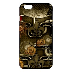 Wonderful Noble Steampunk Design, Clocks And Gears And Butterflies Iphone 6 Plus/6s Plus Tpu Case by FantasyWorld7
