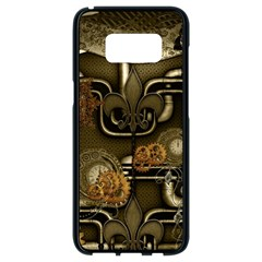 Wonderful Noble Steampunk Design, Clocks And Gears And Butterflies Samsung Galaxy S8 Black Seamless Case by FantasyWorld7