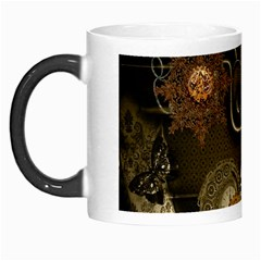 Wonderful Noble Steampunk Design, Clocks And Gears And Butterflies Morph Mugs by FantasyWorld7