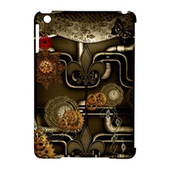 Wonderful Noble Steampunk Design, Clocks And Gears And Butterflies Apple Ipad Mini Hardshell Case (compatible With Smart Cover) by FantasyWorld7