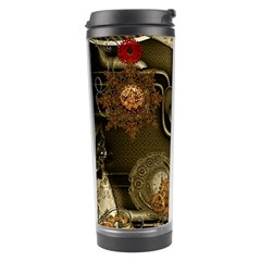 Wonderful Noble Steampunk Design, Clocks And Gears And Butterflies Travel Tumbler by FantasyWorld7