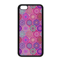 12 Geometric Hand Drawings Pattern Apple Iphone 5c Seamless Case (black) by Cveti