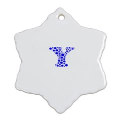 Heyyou Snowflake Ornament (two Sides)