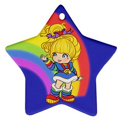 Rainbows Make Everything Better Star Ornament by Ellador