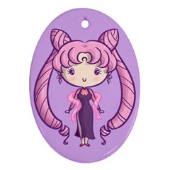 Black Lady Cutie Oval Ornament by Ellador