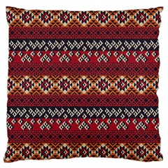 Native American Pattern 8 Large Cushion Case (two Sides) by Cveti