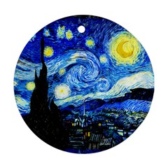 Starry Night Round Ornament