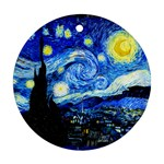 Starry Night Round Ornament Front