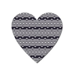 Native American Pattern 9 Heart Magnet by Cveti
