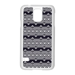 Native American Pattern 9 Samsung Galaxy S5 Case (white) by Cveti