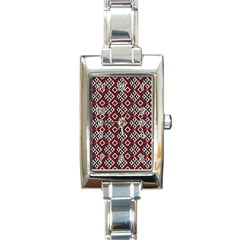 Native American 10 Rectangle Italian Charm Watch by Cveti